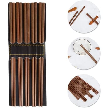 Pack Of 5 Reusable Chinese Chopsticks/Wooden Chopsticks