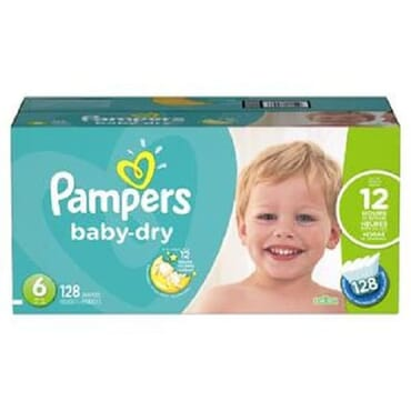 Pampers Baby- Dry Disposable Diapers, Size 6, 120 Count (not 128 Count)