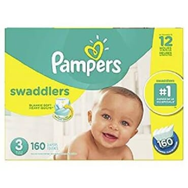 Pampers Swaddlers Disposable Baby Diapers - Size 3 - 160ct