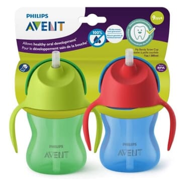 Philips AVENT My Bendy Straw Stage 2 Sippy Cup - 2 Packs