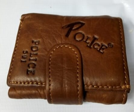 Police Foldable Men's Leather Wallet