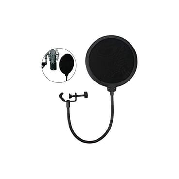 Pop Filter For Studio Microphone, Pop Shield Mic Wind Screen For Better Vocal Recordings.