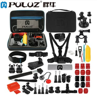 Puluz 53in1 Gopro Camera Professional Kits For HERO7/6/5/ 5Session/4Session /4/3 +/3/2/1,Xiaoyi