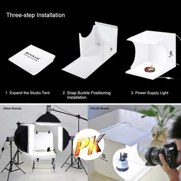 Puluz Pro Picture Taking Photo Studio Lighting Tent Box With 6 Backgrounds