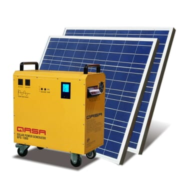 QASA Solar Powered Generator Qpg-500 -solar Panel + Battery