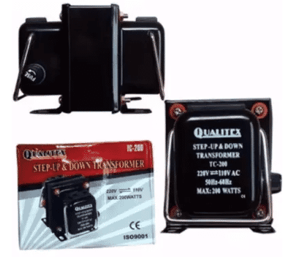 Qualitex Step Up & Down Transformer 220V + 110V - 200W