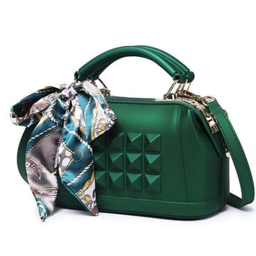 Quality Trendy Big Shoulder Strap Female Handbag/Jelly Bag/Matte Handbag With Scarf.Perfect For Jeans,Blouse/Skirt,Ankara.
