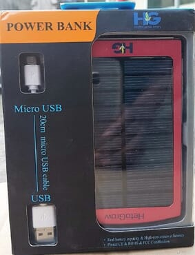 Hetogrow Solar Power Bank (10000 mAh)
