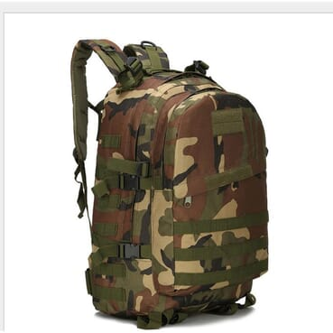 Rugged Large Capacity Tactical Camo Waterproof Backpack