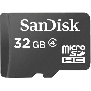 SanDisk 32GB MicroSDHC Memory Card With SD Adapter