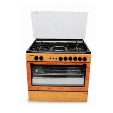 SCANFROST SFC-9425NG GAS COOKER (WOOD FINISH)