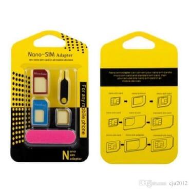 Aluminum Metal Sim Card Adapter Nano Slim Card To Micro & Standard Slim 5 In 1