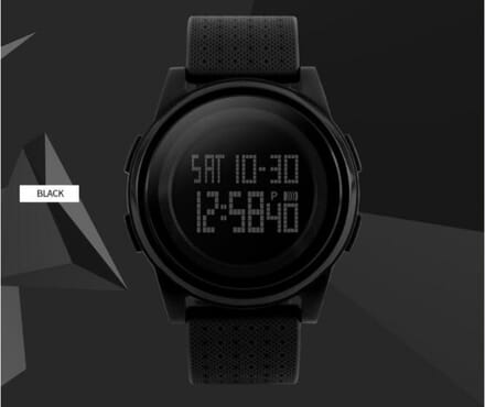 Skmei 1206 Thin Black Sport Watch