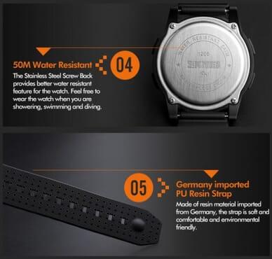 Skmei 1206 Thin Black Sport Watch
