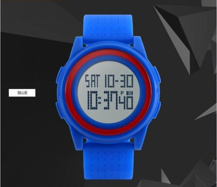 Skmei 1206 Thin Blue Sport Watch