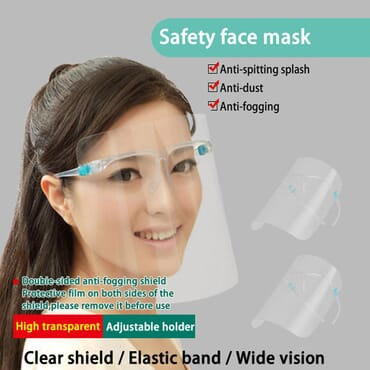 Protective Face Shield With Frame