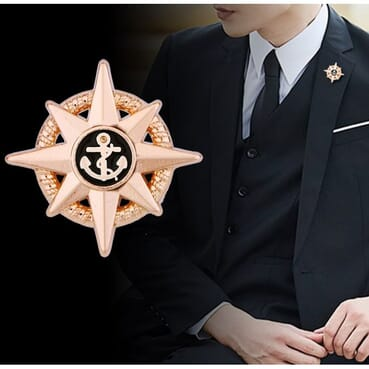 Sailor Anchor Brooch Pin Pendant For Men Suit