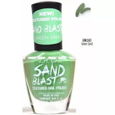 L.A Girl Sand Blast Texture Nail Polish - Green Sand