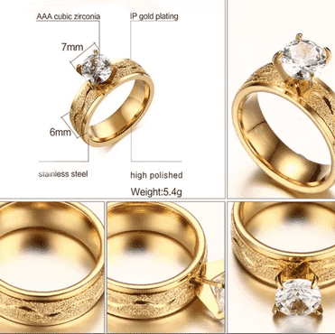 High Quality Gold Engagement Ring
