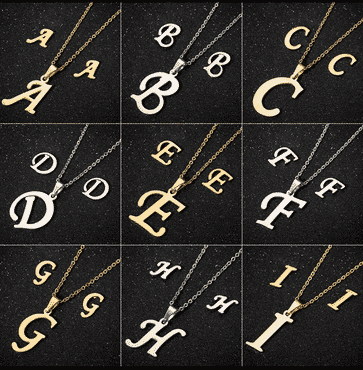 Fashionable Stainless steel Alphabet Set