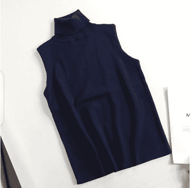 Female Sleeveless Turtleneck Top
