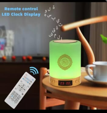Remote Control LED Qur'an MP3 Clock Display