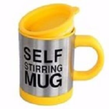 Self Stiring Mug-Yellow
