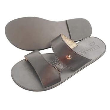 Nediva Men Black Leather Slippers - PL12