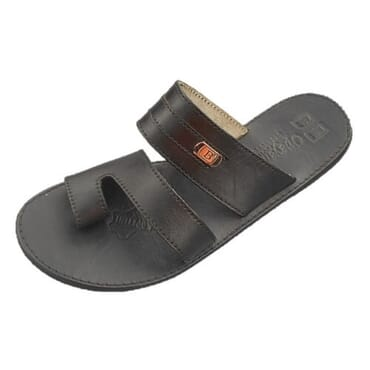 Nediva Men Black Leather Slippers - PL13