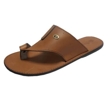 Nediva Men Toe and Buckle Leather Slippers