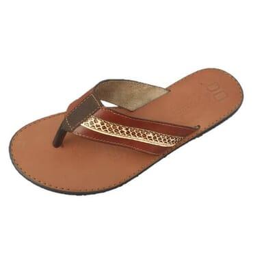 Nediva Men Brown Leather Slippers - PL6