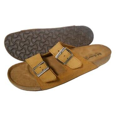 Nediva Men Brown Nubuck Leather Slippers | SL2