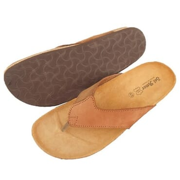 Nediva Men Brown Leather Slippers | SL3