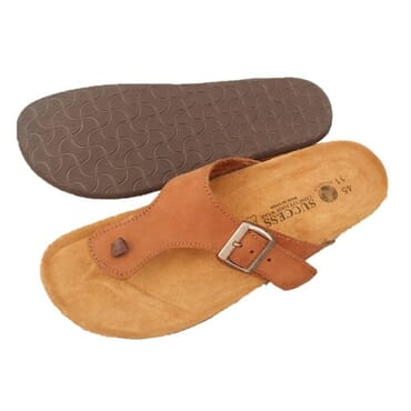 Nediva Men Brown Nubuck Leather Slippers | SL4