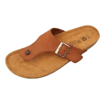 Nediva Men Brown Nubuck Leather Slippers   SL4