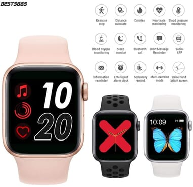 T55 SMART WATCH SERIES 5 With Magnetic Charging & Calling Function