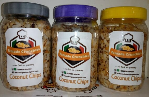 Deluxe Temade Crunchies Coconut chips