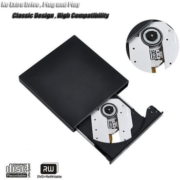 USB 2.0 Protable External CD-RW Drive DVD-RW Burner Writer Player