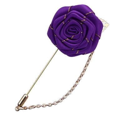 Unisex Rose Flower Lapel/Brooch For Men/Women Suit
