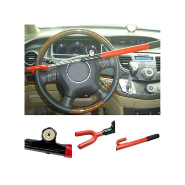 Universal Anti-Theft Auto Steering Wheel Security Lock For Cars,Pickup Trucks, Minivans & SUVs