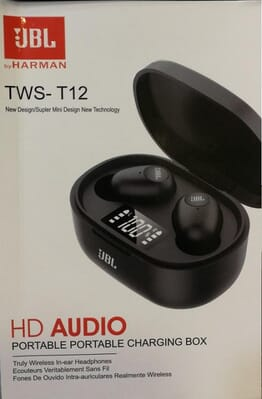 JBL TWS 12 Wireless Bluetooth Earphone Earbuds