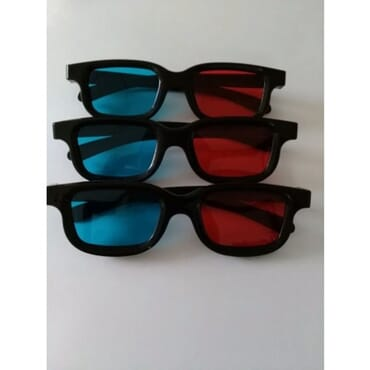 Virtual 3D Viewing Glass - Red & Blue