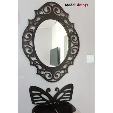 Wall Mirror with butterfly shelf  dm031bx