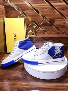 Fendi Sleek white high-tops .