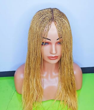 Braided wig color Gold