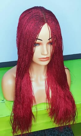 Braided wig color Red