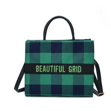 Women's Handbag Plaid Letter Pattern Tote Crossbody Bag