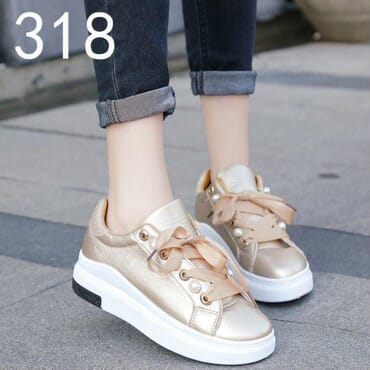Women Lace Up Sneakers