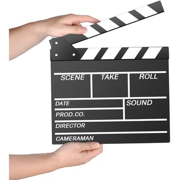 Wooden Director's Film Movie Slate Board Clapper Board