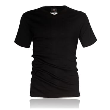 Police X.003 Extra Size Plain Black Short Sleeve V-Neck T-Shirt